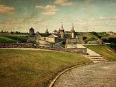 Retro style photo of old castle — Stock Photo