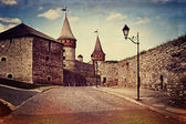 Vintage style image of old castle — Stock Photo