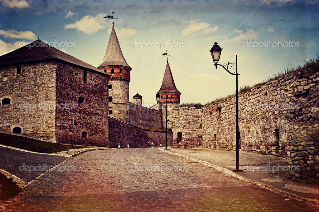 Vintage style image of old castle — Stock Photo #12665329
