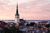 Panoramic view of Tallinn old city center — 图库照片