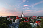 Panoramic view of Tallinn old city center — Stock Photo