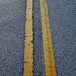 Road line on asphalt — Stock Photo
