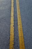 Road line on asphalt — Stock Photo