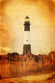 Vintage style photo of lighthouse — Stock Photo