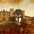 Vintage style photo of Hohenschwangau Castle — Stock Photo