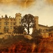 Vintage style photo of Hohenschwangau Castle - Stock Photo