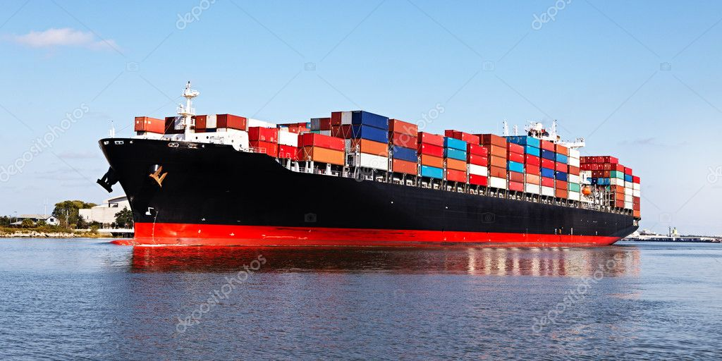 Cargo ship at the port — Stock Photo #15896925