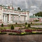 Vintage style photo of palace in Kadriorg garden — Stock Photo #20564513