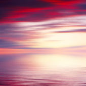 Abstract sunrise seascape background — Stock Photo