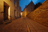 Old European street at night — Stock Photo