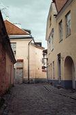 Old European town street — Stock Photo