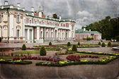 Styl vintage zdjęcie pałacu w kadriorg ogród — Zdjęcie stockowe