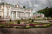Vintage style photo of palace in Kadriorg garden — Stock Photo
