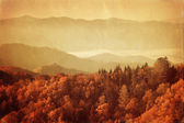 Old style image of Great Smoky Mountains National Park — Stock Photo
