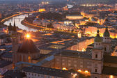 Salzburg at night — Stock Photo