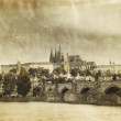 Stock Photo: Vintage photo of Charles Bridge in Old Prague
