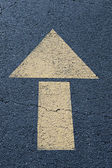 Arrow sign on the road — Stock Photo