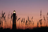 Lighthouse at the night — Stock Photo