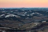 Panorama of Carpathian mountains hills — Stock Photo