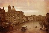 Styl vintage zdjęcie canale grande w wenecji — Zdjęcie stockowe