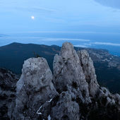 Ai-Petri mountain at night — Stock Photo