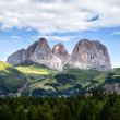 Stock Photo: Panoramof Sassolungo mountain peaks