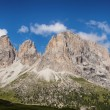 Panorama of Sassolungo mountain peaks — Stock Photo #31055517
