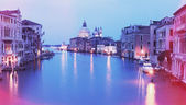 Vintage photo of Grand canal at sunset — Stock Photo