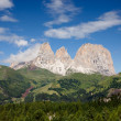 Sassolungo mountain peaks — Stock Photo