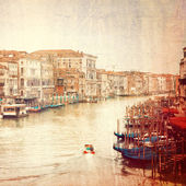 Vintage photo of Grand Canal in Venice — Stock Photo