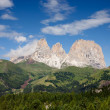 Stock Photo: Sassolungo mountain peaks