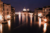 Painting style image of Grand canal after sunset — Stock Photo