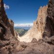 Stock Photo: Sassolungo mountain rocky peaks