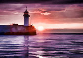 Watercolor style image of lighthouse — Stock Photo