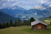 Sunny mountain valley — Stock Photo