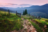 Mountains rural morning landscape — Stock Photo