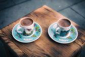 Retro style image of traditional turkish coffee — Stock Photo