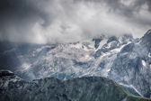 Mountains stormy weather — Stock Photo
