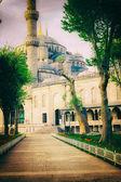 Foto vintage da arquitetura de mesquita azul sultanahmet — Foto Stock