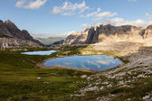 Lago dei Piani at sunset — Stock Photo