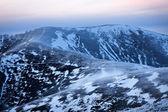 Carpathian mountains showy hills — Stock Photo