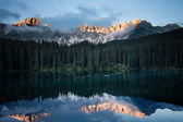 Mountain lake morning — Stock Photo