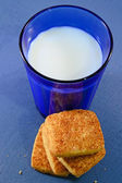 Glass of milk and cookies — Stock Photo