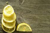 Dilimlenmiş limon arka plan — Stok fotoğraf