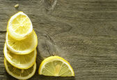 Sliced lemon background — Stock Photo