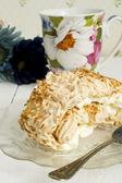 Coconut meringue swiss roll — Stock Photo