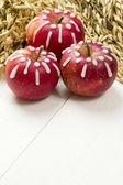 Decorated apples — Stock Photo