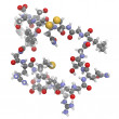 Atrial natriuretic peptide (ANP) or factor (ANF) molecule, chemi - Stock Photo