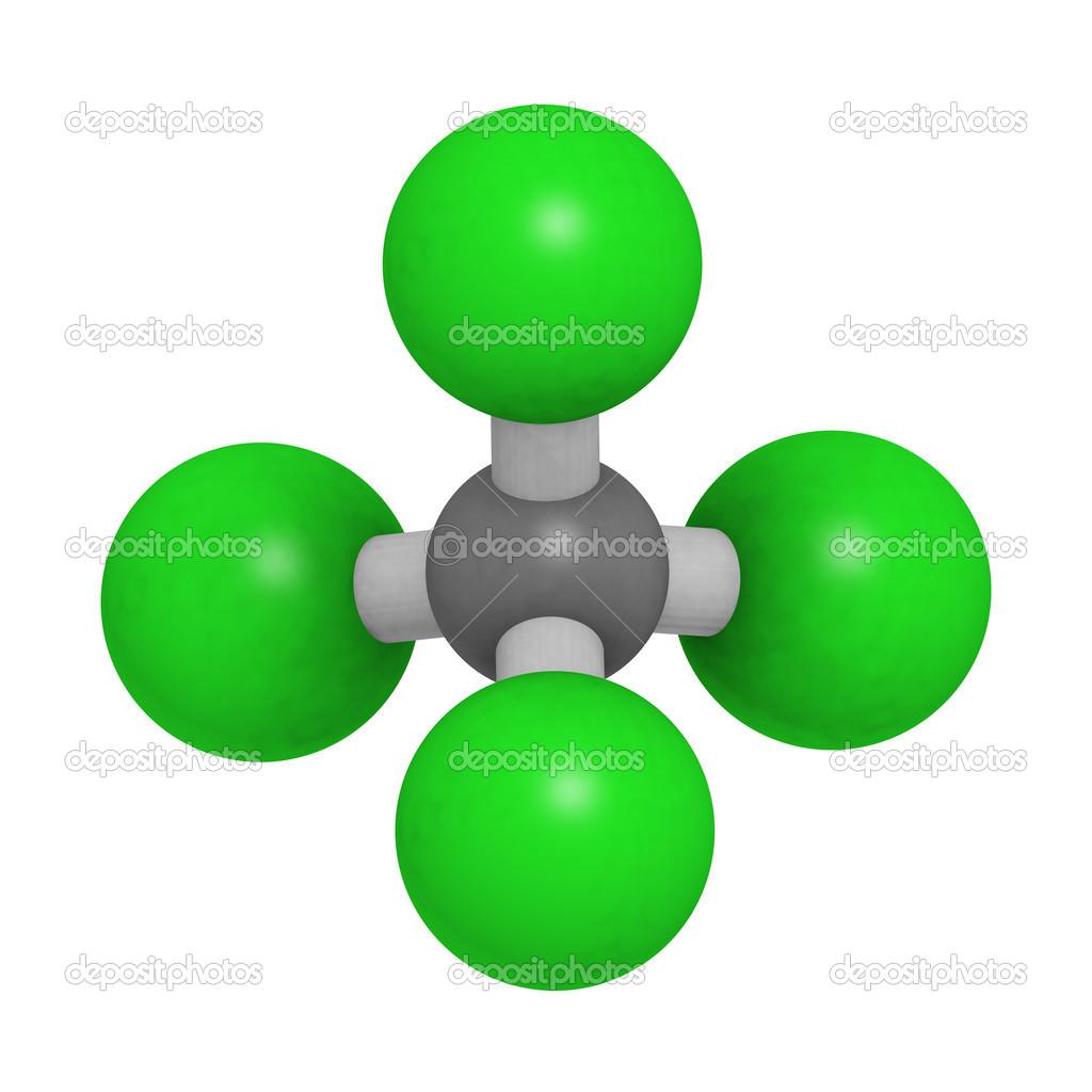 depositphotos_1... Carbon Tetrachloride Molecule