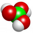 Boric acid molecule (H3BO3), chemical structure. - Stock Photo